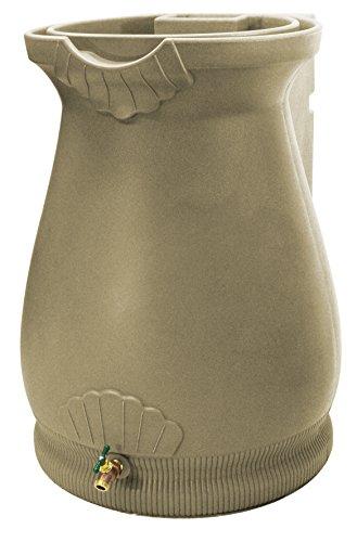 Good Ideas Rwurn-Kha Rain Wizard Rain Barrel Urn 65 gallon, Khaki