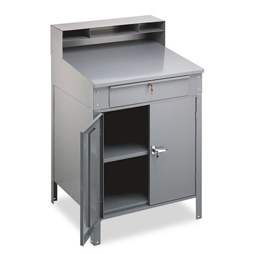 (Tennsco SR-58 Steel Closed Foreman's Desk with Cabinet, 34-1/2