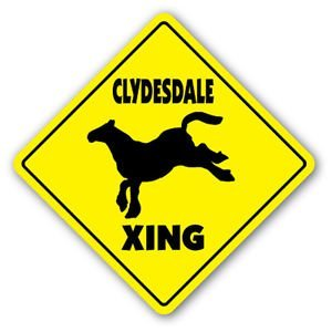 CLYDESDALE CROSSING Sticker novelty gift horse beer wagon lover owner pony riding - Sticker Graphic - Auto, Wall, Laptop, Cell, Truck Sticker for windows, cars, trucks, tool boxes, laptops