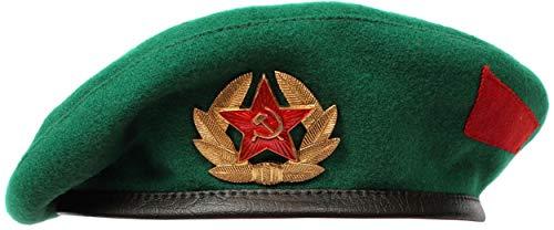 (Russian/Soviet military troops beret hat (Green (Border guard), 62 (US - 7 3/4)))