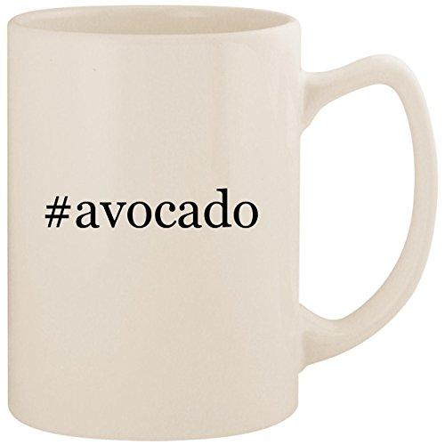 #avocado - White Hashtag 14oz Ceramic Statesman Coffee Mug Cup (Best Avocado Hair Mask Recipe)