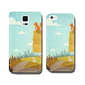 Wooden village sign. Vector illustration. cell phone cover case iPhone6 Plus