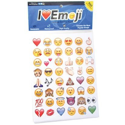 Emoticon Emoji Stickers Assortment Pack (288 Stickers) - Large Brad Assortment