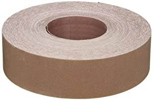 "Norton K225 Metalite Abrasive Roll, Cloth Backing, Aluminum Oxide, 2"" Width x 50yd Length, Grit P220 (Pack of 5)"