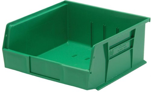 (Quantum QUS239 Plastic Storage Stacking Ultra Bin, 10-Inch by 8-Inch by 7-Inch, Green, Case of 6)