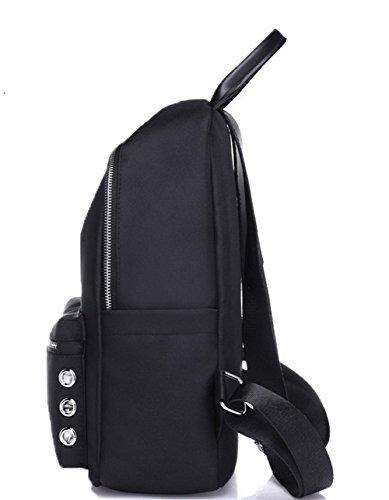 AgooLar main Zippers Sacs Dacron bandoulière à Femme d'embrayage Noir à Sacs 1rn4x1