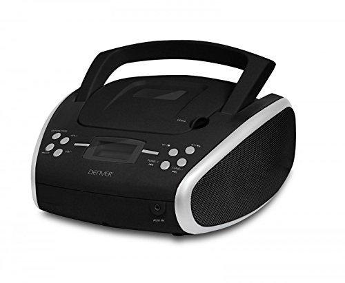 Denver TC-24 Boombox mit Toploader CD-Player schwarz