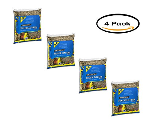 PACK OF 4 - 3-D Pet Products Premium Finch Lovers Blend Dry Parrot Food, 5 LB (Birds Lover Of)