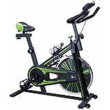 CENTURFIT Bicicleta Fija Disco Rueda de 10 Kg Estatica Spinning Fitness Cardio Ciclismo Interior Entrenamiento Cardiovascular Indor Gimnacio Gym Excelente Calidad Profesional Ejercicio Casa Oficina