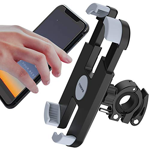 THIKPO-Bike-Phone-Mount-with-Shockproof-Silicone-Pad-Secure-Quick-Locking-Clamp-360-Rotation-Angles-for-47-68-inch-Cellphones-Holds-Phones-Up-to-35-Wide
