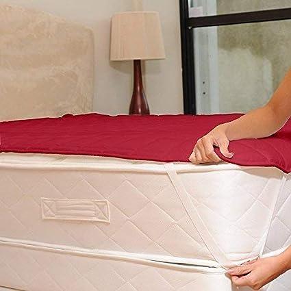 Gemshop Cotton Waterproof Single Bed Mattress Protector (Maroon)
