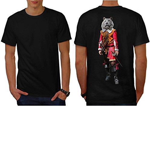 [Tiger Head Pirate Costume Cat Men NEW S T-shirt Back | Wellcoda] (Pregnant Basketball Costume)