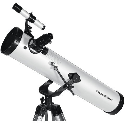 FirstView 3'' Reflector Telescope with Universal Smartphone Camera Adapter (White)