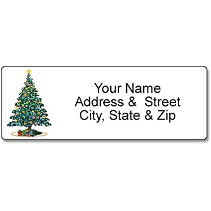 amazon com christmas tree address label christmas customized