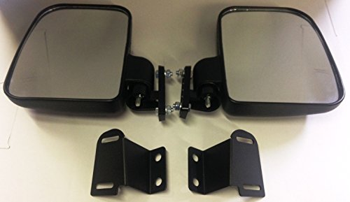 Side View Mirror Set Fits Polaris Ranger XP900 2013+ Lock N Ride Cab Frame (NOT FOR ROUND ROLL BARS)