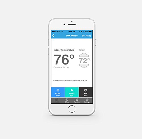 Lux Products GEO-WH Wi-Fi Thermostat, White, Works with Alexa by Lux (Image #4)