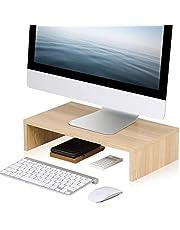 FITUEYES Monitor Stand 16.7 inch Laptop/PC/Printer Riser Desk Space Save for Desktop Organizer Beige DT104201WO