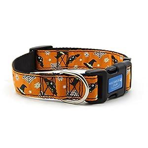 BIG SMILE PAW Nylon Dog Collar Adjustable,Halloween/Animal Theme
