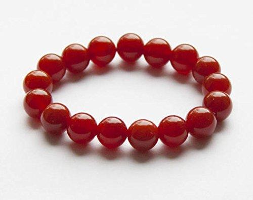 - JP_Beads Fire Agate Bracelet, Beaded Gemstone, Beaded Bracelet, Healing Stones,Jewelry,Bracelet for Women,Energy Bracelet,Present for a Woman,for her 8mm 7