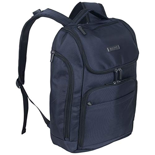 Kenneth Cole Reaction Top Zip Laptop with USB Port (RFID) Backpack, Navy One Size