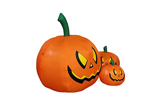 Foot tall halloween inflatable three pumpkins decoration