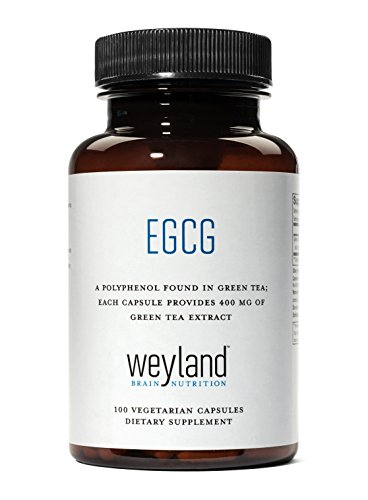 Weyland  Egcg From Green Tea Extract  400 Mg  100 Vegetarian Capsules