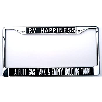 Amazon Com Rv There Yet Chrome License Plate Frame