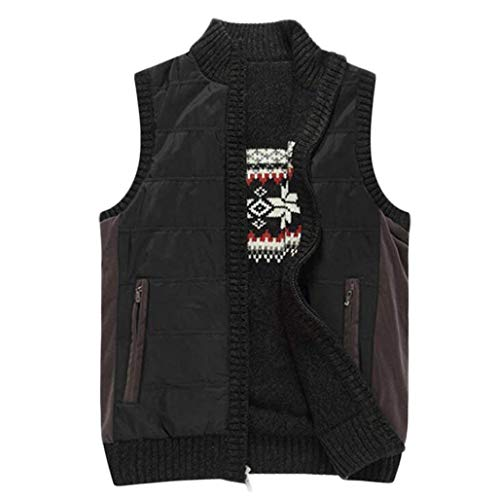 Pour De Mode Autumn M Winter Populaire Gilet Jeunesse And British couleur Casual Black Black Chandail Homme Ouest 8qWgSEd