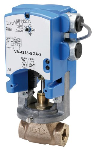 Johnson Controls VA-4233-GGC-2 VA-4233 Series Electric Valve Actuator, Automatic Spring Return, Proportional Control, Two Auxiliary Switches ()