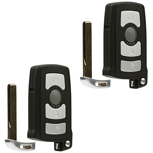 Car Key Fob Keyless Entry Remote fits BMW 7 Series 745i 750i 750Li 760i 760Li (LX8766S), Set of (Bmw Replacement Key)
