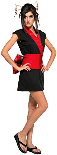 Red Geisha Costumes (Rubie's Costume Co Women's Geisha Costume, Black/Red, Standard)