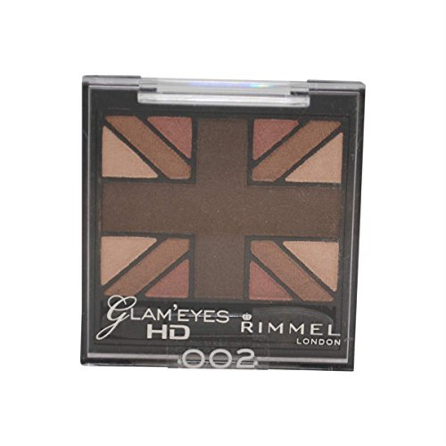Rimmel Glam' Eyes Hd Quad Eye Shadow #002 English Oak by - Quad Oak
