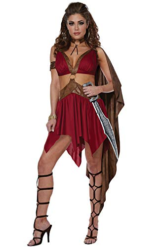 California Costumes Women's Warrior Goddess Adult Woman Costume, Brown/red, Extra Large -