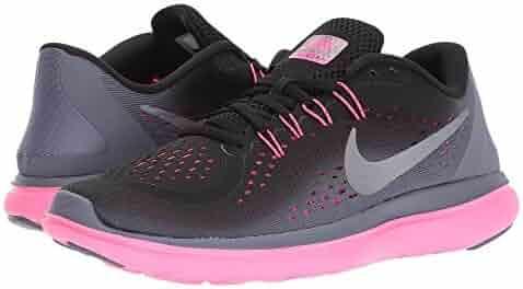 pretty nice 84fea f9da3 Nike Women s Flex 2017 RN Running Shoe Black Metallic Cool Grey Light  Carbon Size