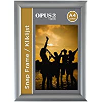 OPUS 2 Porte affiche mural A4, Profil de 25mm, Cadre Aluminium - 355001