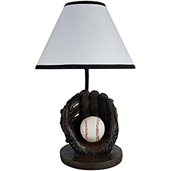 Hongville HV TLAMP 31604BB Bedroom Game Room Decor Sport Themed Design Table Lamp Baseball