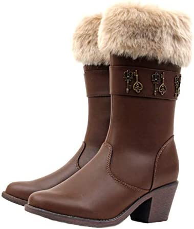 Luckers Womens Cowgirl Mid-Calf Boots