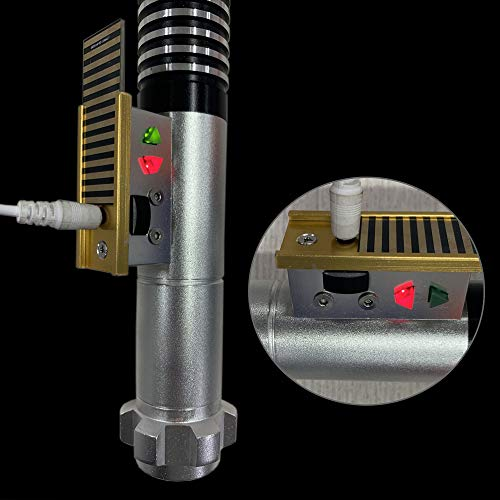 YDD GENIUS Dueling Light Saber, Realistic Blaster Sound and Flashes, Metal hilt, USB Charging, Rechargeable, Star Wars /Christmas Toy by YDD GENIUS (Image #2)
