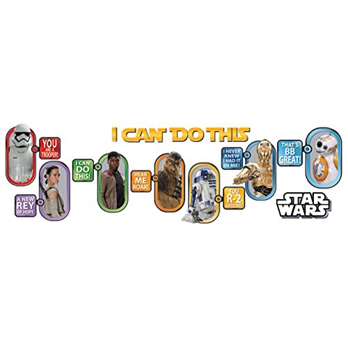 Eureka 'I Can Do This' Star Wars Bulletin Board Set and Classroom Decorations for Teachers 20 pcs