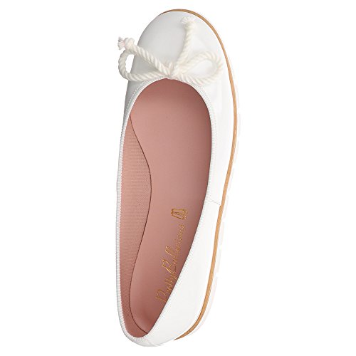 Pretty Ballerinas Women's 45029 Ballet Flats White 33b23