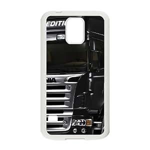 Camión Scania caso Q6Z46Q1JR funda Samsung Galaxy S5 funda C15Y08 blanco