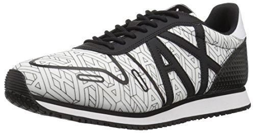 A Sneaker Geocentric Black 9550638P422 Retro Armani Mens Running White Exchange X rqwxZ8pr