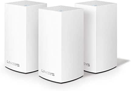 Linksys WHW0103 Velop Whole Home Mesh WiFi System (AC3900 WiFi Router/Extender for Seamless Coverage, Parental Controls, Compatible with Alexa, 3-Pack, Covers up to 4,500 sq ft / 400 sqm, White