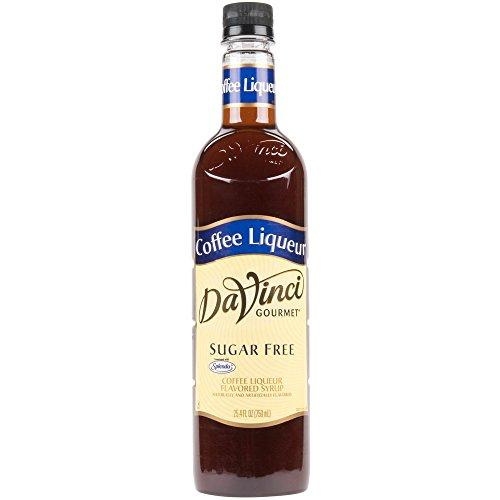 Flavored Liqueur - Da Vinci Sugar-Free Coffee Liqueur Syrup, 750ml Plastic Bottle