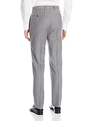 Calvin Klein Men's Marbry Extreme Slim Light Grey Two-Button Suit with Flat Front Pant