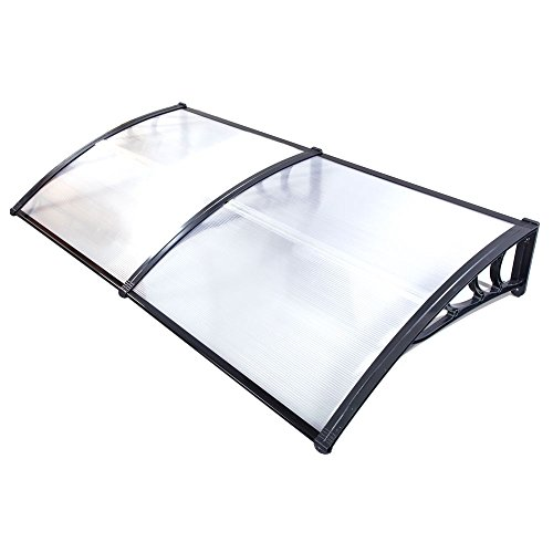200 x 100 cm Household Application Door & Window Rain Cover Eaves Black Holder (79''x40'' Style 2) by Lykos