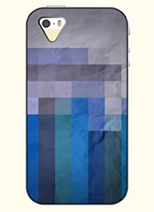 OOFIT Phone Case Design with Blue Vertical Stripes for Apple iPhone 5 5s 5g