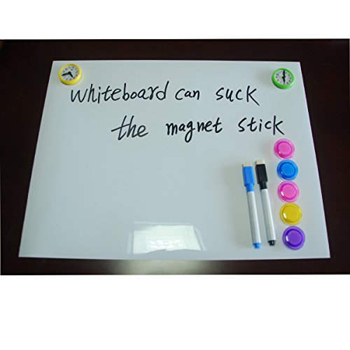 """Magnetic 16"""" Dry Erase Message Board for Refrigerator Use as a Horizontal or Vertical Whiteboard Weekly Planner Calendar Fridge Magnet. Also Great as a Meal, Grocery, To Do or Chore List. ¡"""