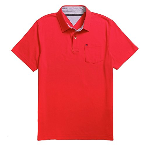 Tommy Hilfiger Mens Custom Fit Solid Color Polo Shirt - XXL