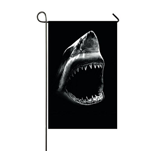 azfvv Open Mouth Shark Garden Printed Flag Double-sided Home Flag Weather Resistant-28 x 40 (Stitched Up Mouth Halloween)